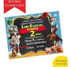 Invitacion Editable Toy Story 4 45 00 En Mercado Libre
