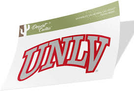 Amazon Com University Of Nevada Las Vegas Unlv Rebels Ncaa Vinyl Decal Laptop Water Bottle Car Scrapbook Sticker 00005 Arts Crafts Sewing
