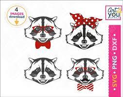 Raccoon Head Portrait Cute Funny Decal Sticker Car Vinyl