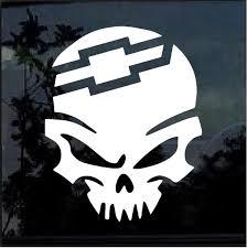 Chevy Punisher Skull Window Decal Sticker Custom Sticker Shop