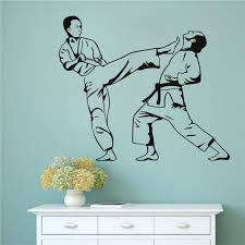 9 21aud Karate Kick Removable Sticker Martial Art Wall Decal Sport Mural For Boys Rooms Ebay Home Garden Products Wall Stickers Sports Sports Decals