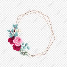 إطار الذهب مع تصاميم زهرة الورد حفل زواج دعوة زفاف ذهب Png وملف