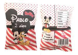 Bolsa Snack Personalizada Mickey Y Pluto
