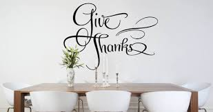 Give Thanks Wall Decals Dezign With A Z