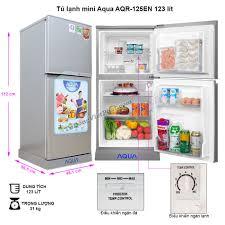 Tủ lạnh mini AQUA 123 Lít AQR-125EN không đóng tuyết, Giá rẻ T4/2020
