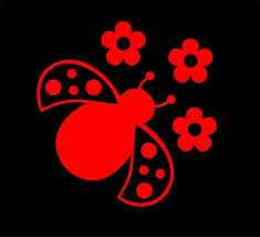 Ladybug Design 3 5 0 Red Vinyl Decal Sticker Etsy