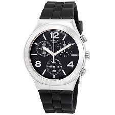swatch nior de bienne chronograph black