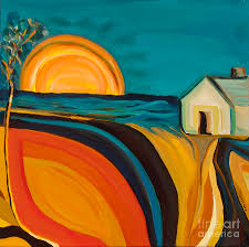 Rural Oasis Painting by Ida Mitchell