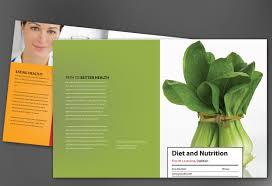 half fold brochure template for health