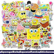 50pcs Pack Cartoon Spongebob Squarepants Sticker Waterproof For Mobile Phone Car Moto Laptop Luggage Bicycle Skateboard Decal Stickers Aliexpress