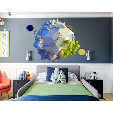 Shop Planet Earth 3d Polygonal Wall Decal Overstock 32178298