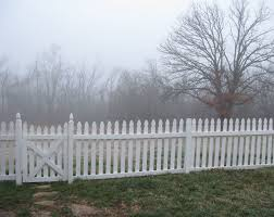 Picket Fence In Fog White Picket Fence Picket Fence Outdoor Living
