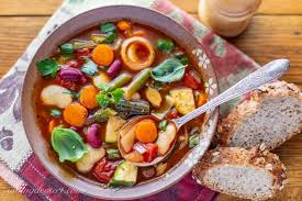chunky vegetable soup with smoked