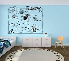 Amazon Com Pirate Wall Decals For Boys Room Pirate Ship Jolly Roger Map Crossbones Pirate Decorations For Home Nursery Room Pirate Door Stickers Pi035 Home Kitchen
