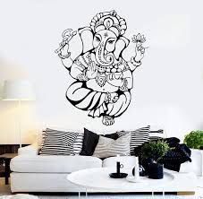 Vinyl Wall Decal Ganesha God Hindu India Religion Stickers Unique Gift Wallstickers4you