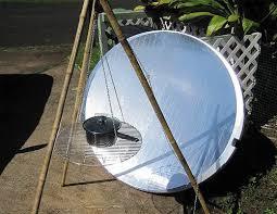 creating a parabolic solar cooker