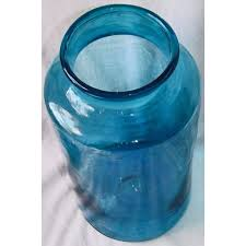 blue blown glass apothecary jar