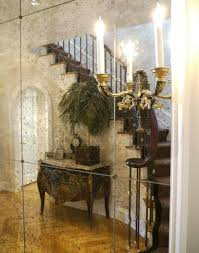 mirroring stairs antique mirror wall