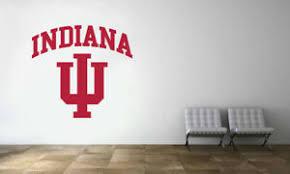 Indiana Hoosiers Logo Wall Decal Ncaa College Football Vinyl Sticker Ebay