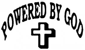 Powered By God Car Or Truck Window Decal Sticker Rad Dezigns
