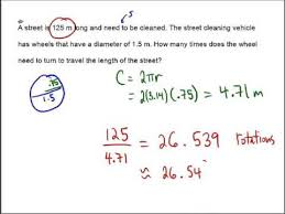 word problems with circles you