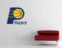 Indiana Pacers Logo Wall Decal Sport Sticker Decor Black Vinyl Nba Cg273