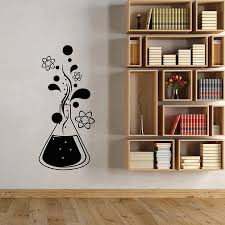 Wall Decal Chemistry Science Atom Molecules Vinyl Window Glass Stickers School Classroom Chemical Laboratory Creative Mural C089 Wall Stickers Aliexpress