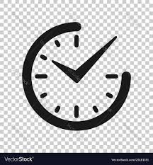Real time icon in transparent style clock on Vector Image