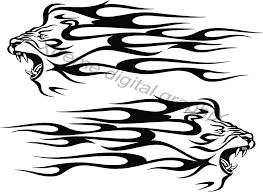 Lion Head Flames Vinyl Cut Auto Decals Xtreme Digital Graphix