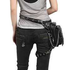 uni motorcycle leather thigh packs