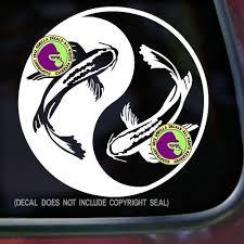 Yin Yang Koi Fish Japanese Vinyl Decal Sticker Gorilla Decals