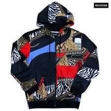 reason clothing cross cut zip hoo