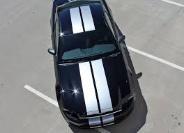 2013 2014 Ford Mustang Decals Racing Stripes Thunder Vinyl Graphics Auto Motor Stripes Decals Vinyl Graphics And 3m Striping Kits