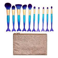 premium 11 piece mermaid makeup brush