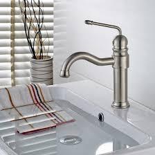 brushed nickel wash basin mixer tap