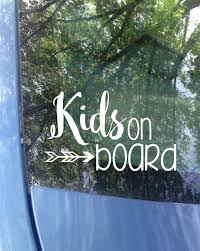 Kids On Board Window Decal Car Decal New Baby Baby Etsy In 2020 Window Decals Funny Decals Surfer Decal