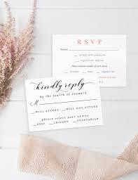 wedding rsvp wording magnetstreet