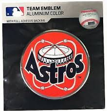Houston Astros Aluminum Embossed Colored Automotive Team Logo Emblem Car Laptop 14 25 Picclick