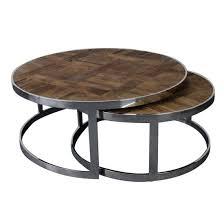 round nesting coffee table set