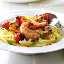 Grilled Shrimp & Tomatoes with Linguine ...