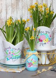 Gift Idea Plant Pot Decals With Free Silhouette Cut File Fynes Designs