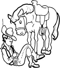 Cowboy Met Zijn Paard Kleurplaat Gratis Kleurplaten Printen