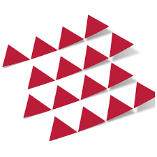 Red Triangles Vinyl Wall Decals