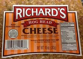 linked to aptly named hog head cheese