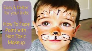 easy lion face paint tutorial with safe