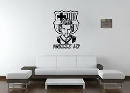 Wall Sticker Mural Decal Vinyl Decor Messi Football Star Barcelona Sport Soccer 80119984835 Ebay