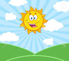 Personaje De Dibujos Animados De La Mascota Del Sol Feliz De Sol ...