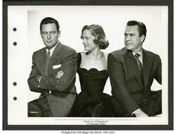 "William Holden, Alexis Smith, and Edmund O'Brien in ""The Turning 