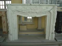 natural stone fireplaces white marble
