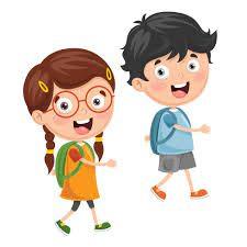 niños yendo a la escuela - Descargar Vectores Gratis, Illustrator Graficos,  Plantillas Diseño